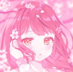 Anime Girl Pink, Anime Art Girl, Kawaii Art, Kawaii Anime Girl, Pink Aesthetic, Aesthetic Anime, Lineart Anime, Pink Drawing, Anime School Girl