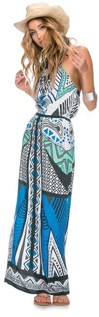Swell Wild Love Printed Halter Maxi Dress http://www.swell.com/CON-CRETE-6