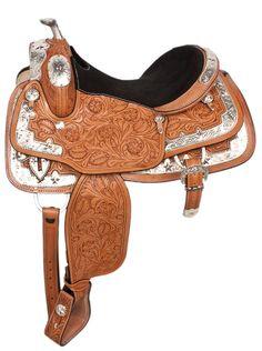 beautiful saddles | about BEAUTIFUL ROYAL 15 SHOW PARADE WESTERN HORSE LEATHER SADDLE ...