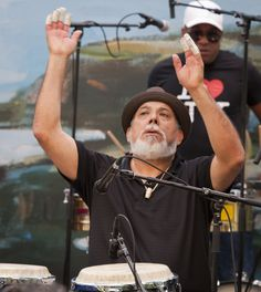 Laguna Beach Festival of the Arts, the great Poncho Sanchez on congas