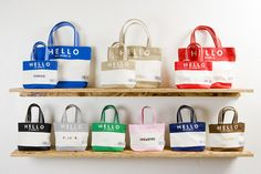 """FLAVOR x Porter """"Hello My Name Is"""" Tote Bag Collection: Adding a bit of customization to its army of bag creations, Japanese bagmakers Porter develop a Hello My Name Is, Paper Shopping Bag, Names, Tote Bags, Collection, Google, Unique, Image, Tote Bag"""