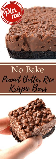 These delectably simple, no heat treats have a brittle Oreo outside layer and crunchy choc fixing made with chocolate, nutty spread and rice oat. Candy Recipes, Sweet Recipes, Cookie Recipes, Rice Recipes, Rice Krispie Bars, Rice Krispie Treats, Köstliche Desserts, Delicious Desserts, Dessert Recipes