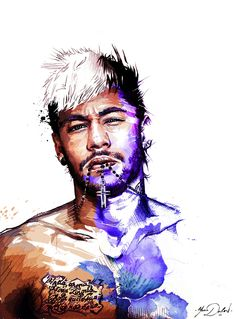 My painting of Neymar Jr.