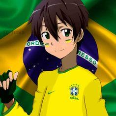 Em clima de Copa do Mundo, personagens de animes ganham ''abrasileirada'' e fazem sucesso na web; confira