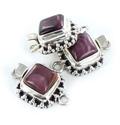 RARE LAVENDER SPINEY OYSTER STERLING CLASP 9mm GRANULATED