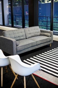 #office #grey #couch #trends2018 #interior