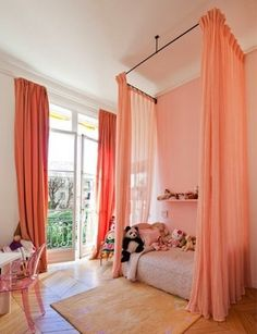 Apartment Therapy: The Best Colors for Every Room: paint Color Portfolios    Pink Children's Bedrooms.  Screw that! *I* Want this!
