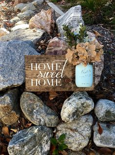 Home Sweet Home SignRustic Home DecorFarmhouse Home by DodsonDecor
