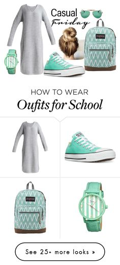 """""""Casual Friday"""" by sally-taylor-winter on Polyvore featuring Converse, JanSport, Sonix and Boum"""