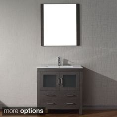 Virtu USA Dior 32 inch Single Sink Vanity Set in Zebra Grey