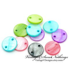 50 Colorful Connector Round Shell Charms -SS. Starting at $5  http://tophatter.com/auctions/24506?source=internal=lot-modal LIVE SUN JUN 16 @ 7 PM EST