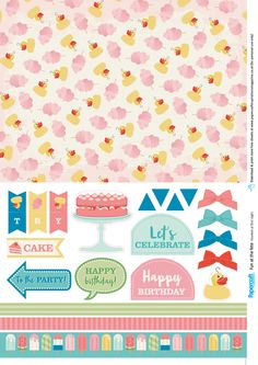 Summer fete free papers from Papercraft Inspirations magazine 165 - Papercraft Inspirations Printable Scrapbook Paper, Digital Scrapbook Paper, Scrapbook Stickers, Printable Paper, Digital Papers, Free Printable Cards, Free Printables, Handmade Card Making, Inspirations Magazine