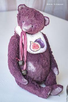 Купить Летние ягодки - брусничный, мишки тедди, мишка, тедди, теддик, медвежонок