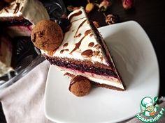 """Шоколадный торт-мусс """"Кофе-черная смородина"""" - кулинарный рецепт"""
