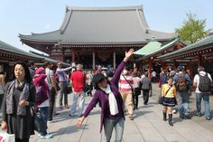 at Asakusa Temple, April 2013