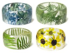 Modern Flower Child - Natural treasures preserved in gorgeous hand-cast resin jewelry                                                                                                                                                                                 More
