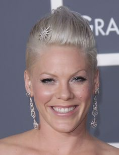 Pinks Elegant Grammy Hairstyle! hair-and-beauty