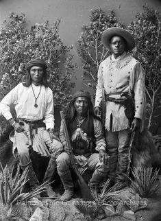 "pogphotoarchives: ""Bonito, Sergeant Jim and Renegade Negro,..."