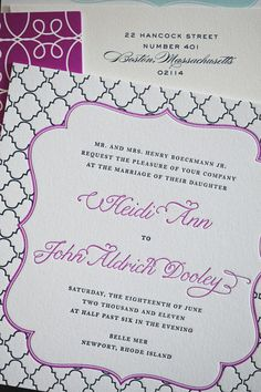 Chic wedding invites