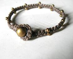 tutorial Ecocrafta: Brass bead bracelet 1