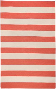 Surya Frontier Red/Ivory Striped Area Rug | AllModern