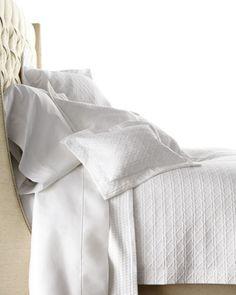 Sferra Marcus Solid White Queen Sheet Set 4 PC 100% Cotton Sateen Regency NEW #cotton #sateen #regency #sheet #queen #marcus #solid #white #sferra