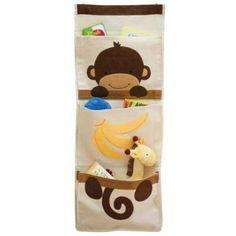 Amazon.com: Lambs & Ivy Wall Organizer, Brown Monkey: Baby