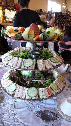 tea sandwiches & fruit