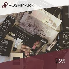 15 pc beauty giveaway  15 pc beauty giveaway includes Hair products , Skin care , Makeup , Fragrances , and nail polish. Brands featured , Urban Decay , Anastasia Beverly Hill , Nyx , Tarte , Loreal , Freeman , Soap and glory , etc Makeup