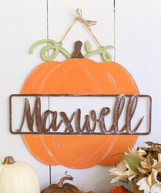 Unfinished Personalized Pumpkin Wall Sign