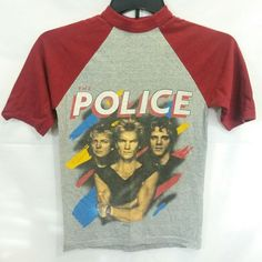 VTG 1983 The Police Synchronicity Tour Concert T Shirt S North America Baseball #Sportswear #GraphicTee #Casual