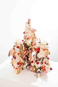 Ceramic Ice Cream Sculpture by Anna Barlow Sculpture Art, Sculptures, Ice Cream Desserts, Chocolate Coffee, Ceramic Artists, Handicraft, Artsy Fartsy, Illustration Art, Anna