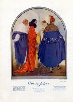 Madeleine & Madeleine, Paul Poiret, Martial & Armand 1921 Evening Coats, Pecoud Fashion Illustration