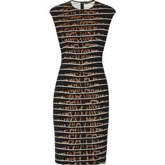 Roberto Cavalli Printed stretch-jersey dress (615 CAD) ❤ liked on Polyvore featuring dresses, leopard print, stretch jersey dress, roberto cavalli, multi colored dress, multi colored leopard print dress and slimming dresses