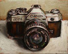 Canon Camera - oil on canvas- 11 x 14 inches - available Bradford J. Salamon