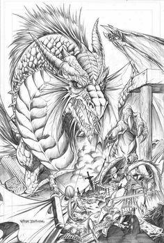Dragon Drawings   Fantasy Dragon pencil version by ~vtishimura on deviantART