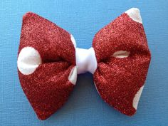 MOUSE  HandGlittered Red with White Polka Dots  by CRSparkleGalaxy, $25.00