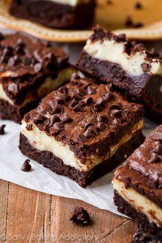 Mocha Cheesecake Brownies: Indulgently rich and fudgy mocha brownies with a thick cheesecake layer! ~ Sally's Baking Addiction