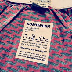 clothing with a memory, clothing that phones home - lanazporter Second Hand Clothes, Ethical Fashion, Creative Director, Storytelling, Identity, Memories, Phones, Lab, Branding