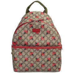 Gucci - Girls 'GG' Logo & Ladybirds Backpack (32cm) |