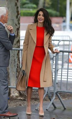 """Amal Clooney's Outfit Has Me Singing """"Lady in Red"""" at the Top of My Lungs - Amal Clooney Red Dress September 2018 Source by alia_haidar - Elegant Outfit, Classy Dress, Classy Outfits, Elegant Dresses, Sexy Dresses, Summer Dresses, Formal Dresses, Wedding Dresses, Prom Dresses"""