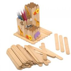 Pack Of 100 Plain Jumbo Craft Sticks - Craft Essentials from Crafty Crocodiles UK