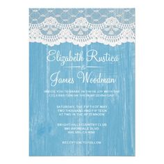 DealsBlue Rustic Lace & Barn Wood Wedding Invitations Personalized InvitesWe have the best promotion for you and if you are interested in the related item or need more information reviews from the x customer who are own of them before please follow the link to see fully reviews