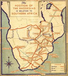 1920 map of rail connections in Southern Africa. Rhodesia is now Zimbabwe. Map Globe, Star Chart, Alternate History, Old Maps, Map Design, Vintage Maps, Historical Maps, African History, Botanical Prints