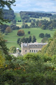 Chatsworth House, Derbyshire, England. Where Georgiana, Duchess of Devonshire once lived.