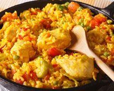 Chicken With Rice (Arroz Con Pollo) Recipe Chicken Paella, Chicken Spices, Chicken Seasoning, Adobo Seasoning, Achiote Oil Recipe, Sofrito Recipe, Pollo Recipe, Rice Recipes, Chicken Recipes