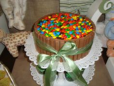 Bolo de kitkat feito pela mamãe
