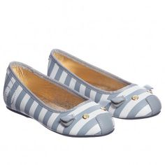 Little Marc Jacobs Girls Grey Leather Mouse Shoes at Childrensalon.com