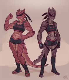 artofnighthead - Patreon Reward for Rogan, was tasked to design this pair of ba. - artofnighthead – Patreon Reward for Rogan, was tasked to design this pair of basilisk wrestler g - Fantasy Character Design, Character Concept, Character Inspiration, Character Art, Dungeons And Dragons Characters, Dnd Characters, Fantasy Characters, Furry Art, Anthro Dragon