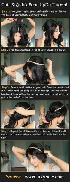 idee coiffure chignon boheme rapide